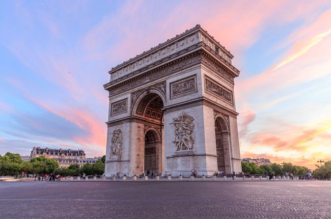 Arc de Triomphe tombée nuit
