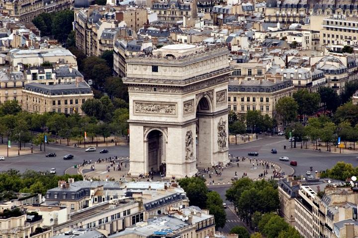 Arc de Triomphe vue aerienne