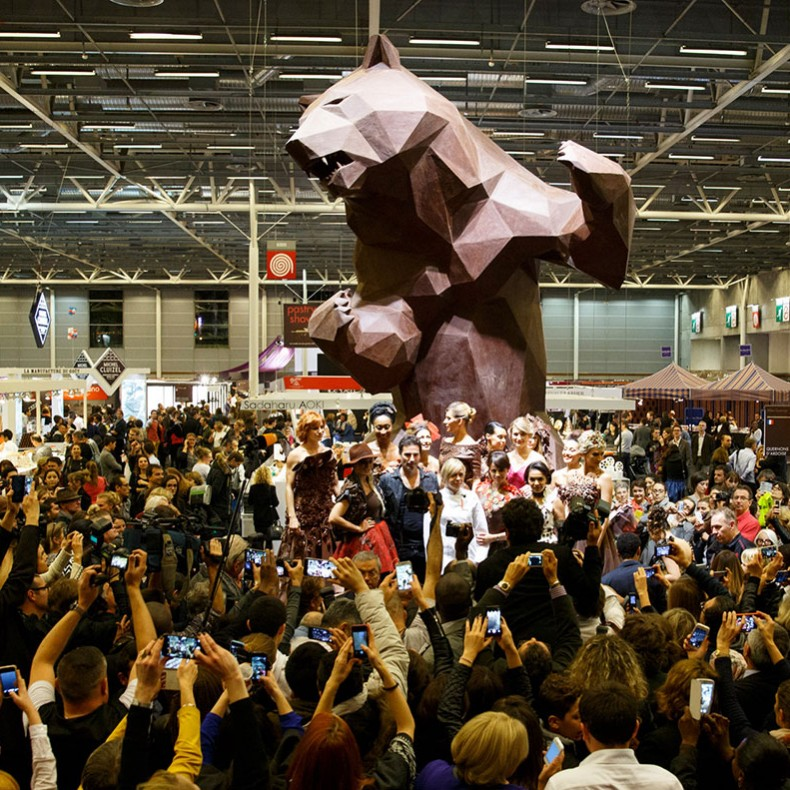 salon du chocolat sculpture